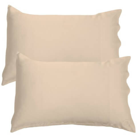 The Goodnight Co. Silk Pillowcase Twin Pack - Shimmering Nude