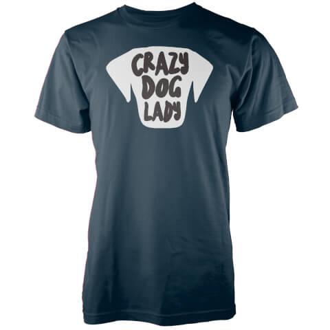 Crazy Dog Lady Navy T-Shirt