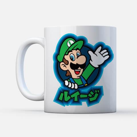 Nintendo Super Mario Luigi Kanji Mug