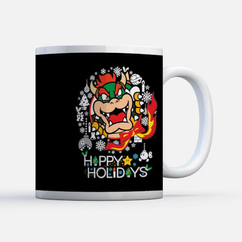 Nintendo Super Mario Bowser Wreath Mug