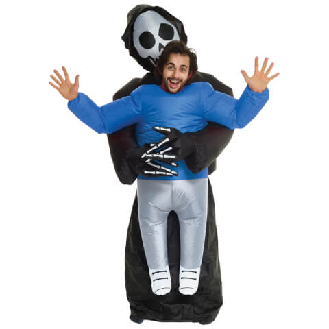 Inflatable Adults' Pick Me Up Grim Reaper Costume - Multi