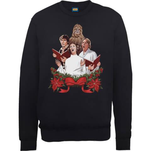 Star Wars Jedi Carols Black Christmas Sweatshirt