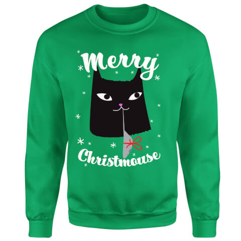 Merry Christmouse Sweatshirt - Kelly Green
