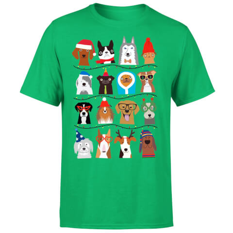 Merry Dogmas T-Shirt - Kelly Green