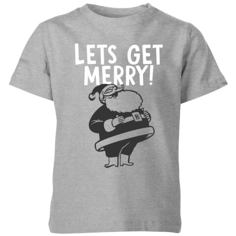 Lets Be Merry Kids' T-Shirt - Grey