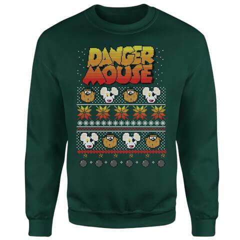 Danger Mouse Christmas Sweatshirt - Green