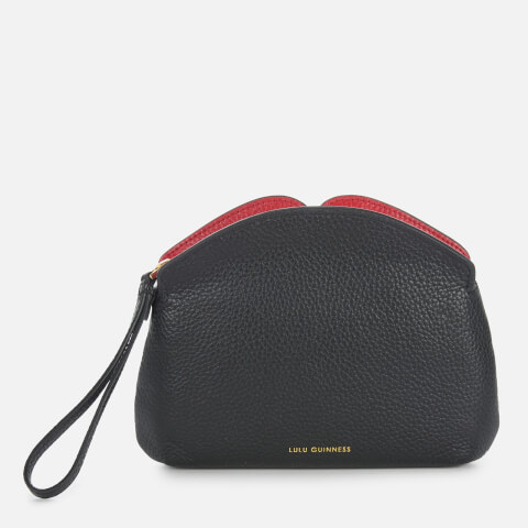 LULU GUINNESS | Lulu Guinness Women'S Peekaboo Lip Clover Clutch Bag - Black/Red | Goxip