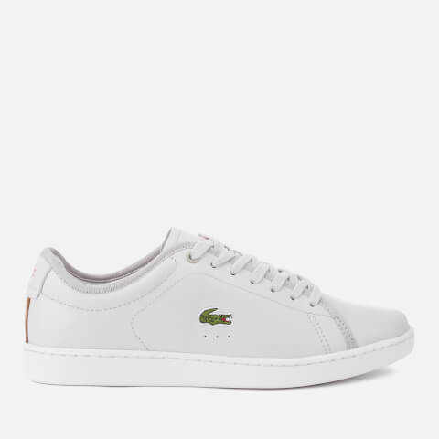 LACOSTE | Lacoste Women'S Carnaby Evo 318 6 Leather Trainers - Light Grey/White - UK 6 - Grey | Goxip
