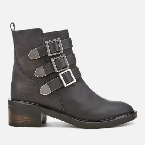 SUPERDRY   Superdry Women'S Cheryl Military Boots - Black - UK 3 - Black   Goxip