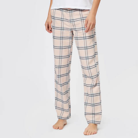 SUPERDRY   Superdry Women'S Millie Loungewear Pants - Pink Check - XS - Pink   Goxip