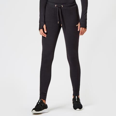 SUPERDRY   Superdry Sport Women'S Active Studio Luxe Joggers - Black Marl - UK 6 - Black   Goxip