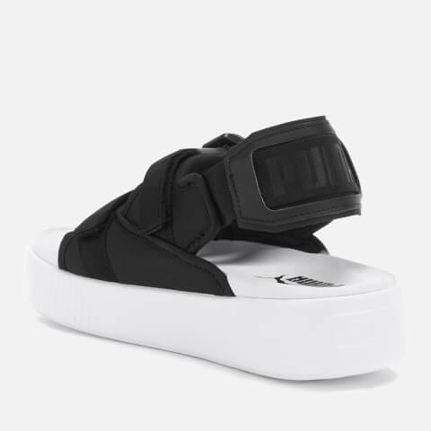 PUMA   Puma Women'S Platform Slide Ylm 19 Sandals - Puma Black/Puma White - UK 7 - Black   Goxip