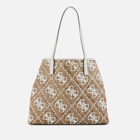 GUESS | Guess Women's Vikky Large Tote Bag - White/Multi | Goxip