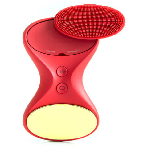 BEGLOW | BeGlow Limited Edition Tia Rouge: All-in-One Sonic Skin Care System - Red | Goxip