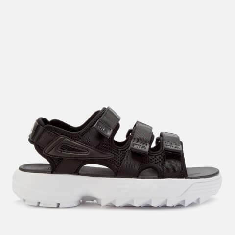 FILA   FILA Women'S Disruptor Sandals - Black/White - UK 4 - Black   Goxip