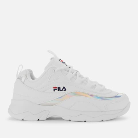 FILA   FILA Women'S FILA Ray Trainers - White/Metallic Silver - UK 4 - White   Goxip