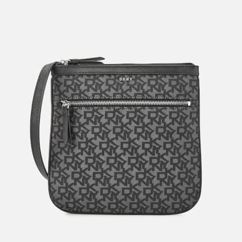 DKNY | DKNY Women's Casey Zip Cross Body Bag - Black Logo | Goxip