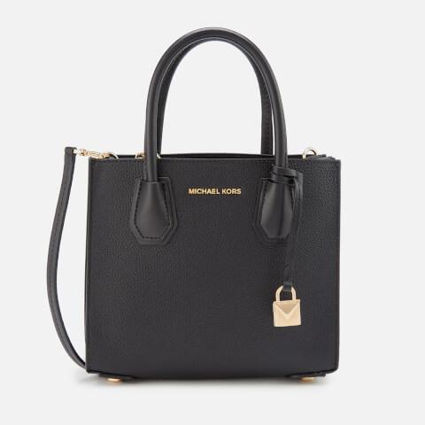 MICHAEL MICHAEL KORS | MICHAEL MICHAEL KORS Women's Mercer Medium Acordian Messenger Bag - Black | Goxip