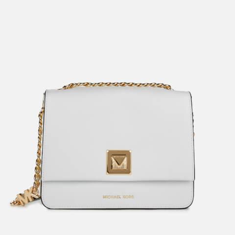 MICHAEL MICHAEL KORS | MICHAEL MICHAEL KORS Women's Sylvia Medium Messenger Bag - Optic White | Goxip