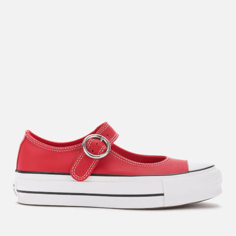 CONVERSE   Converse Women'S Chuck Taylor All Star Mary Jane Ox Flats - Enamel Red/Black/White - UK 8   Goxip