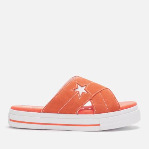 CONVERSE   Converse Women'S One Star Sandals - Turf Orange/Egret/White - UK 8 - Orange   Goxip
