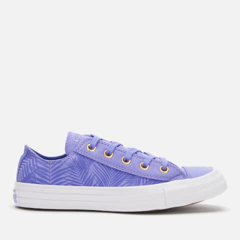 CONVERSE   Converse Women'S Chuck Taylor All Star Ox Trainers - Wild Lilac/Antique Brass/White - UK 8 - Purple   Goxip