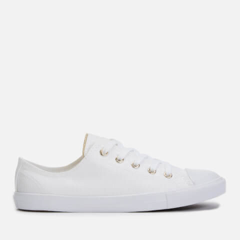 CONVERSE   Converse Women'S Chuck Taylor All Star Dainty Ox Trainers - White/Egret/Light Gold - UK 7 - White   Goxip