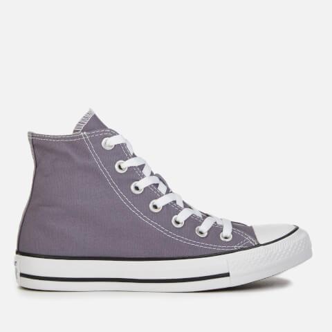 CONVERSE   Converse Women'S Chuck Taylor All Star Seasonal Hi-Top Trainers Trainers - Moody Purple - UK 8 - Purple   Goxip