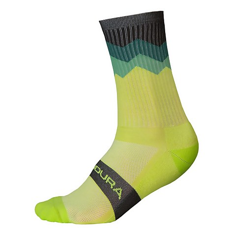 Jagged Sock - Lime Green
