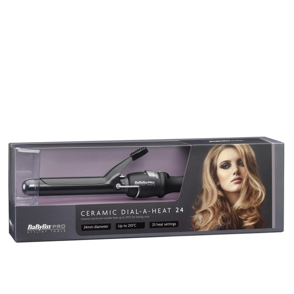 BaByliss PRO Ceramic Dial-A-Heat Tongs (24 mm)