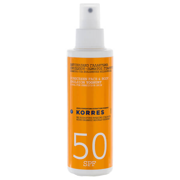 Émulsion Yoghurt Sunscreen Face and Body  FPS50 KORRES (150ml)