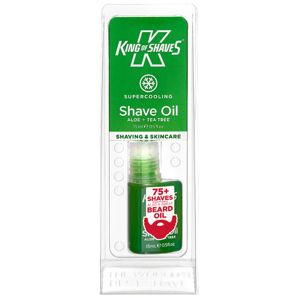 King Of Shaves Alphaoil Shave Oil - Cooling Menthol (15ml)