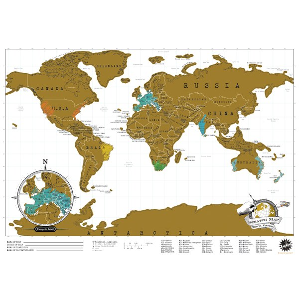 Travel Edition Scratch Map Traditional Gifts Thehut Com
