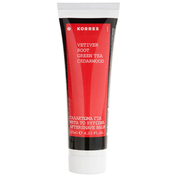 Korres Vetiver Root, Green Tea And Cedarwood Aftershave Balm 125ml