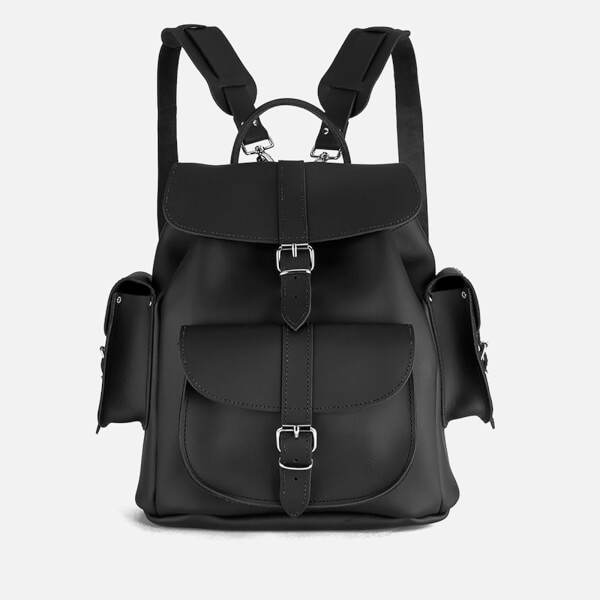 Grafea Show Business Medium Leather Rucksack - Black