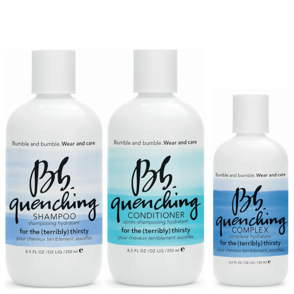 Trío Wear and Care Quenching de Bb: champú, acondicionador y complejo