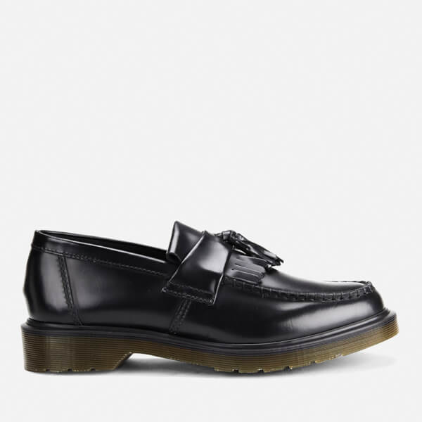 Dr. Martens Men's Adrian Pw Polished Leather Loafers - Black: Image 1