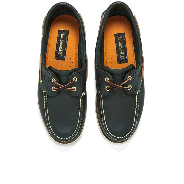 timberland classic 2-eye boat navy mens shoes