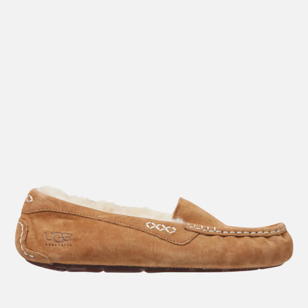UGG Women's Ansley Moccasin Suede Slippers - Chestnut - UK 3.5 TBIb0Gkmbb