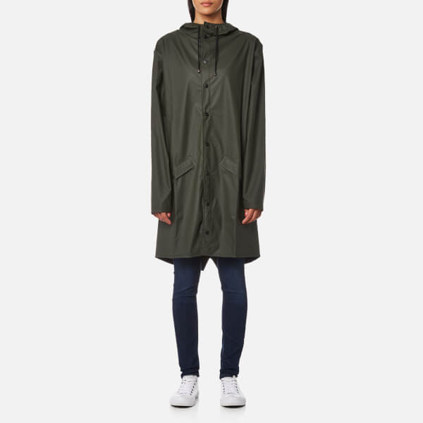 RAINS Women's Long Jacket - Green