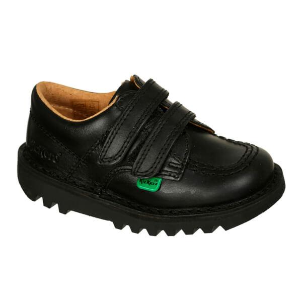 Kickers Kids' Kick Lo Velcro Strap Shoes - Black