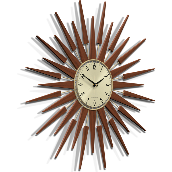 Newgate Pluto Wall Clock Brown Free Uk Delivery Over 163 50