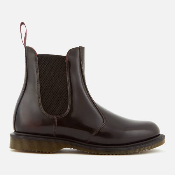Dr. Martens Women's Flora Arcadia Leather Chelsea Boots - Cherry Red - UK 3