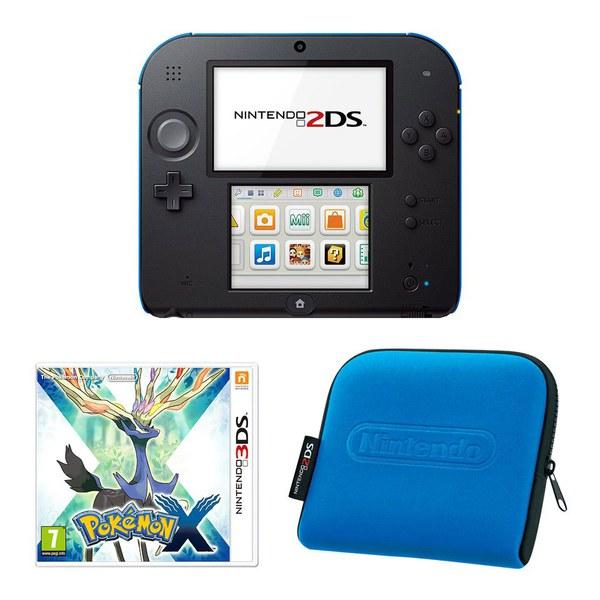 Nintendo 2DS Console (Black & Blue): Bundle includes ...