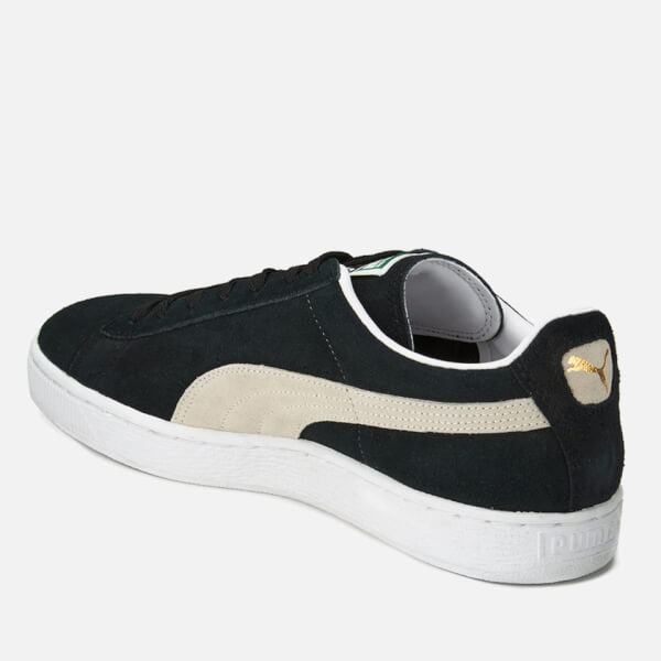 puma suede classic trainers black team gold white. Black Bedroom Furniture Sets. Home Design Ideas
