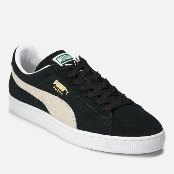2d806e906aa731 Puma Suede Classic + Trainers - Black White Mens Footwear