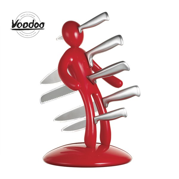 Raffaele Iannello Voodoo Knife Block Red 5 Piece Homeware