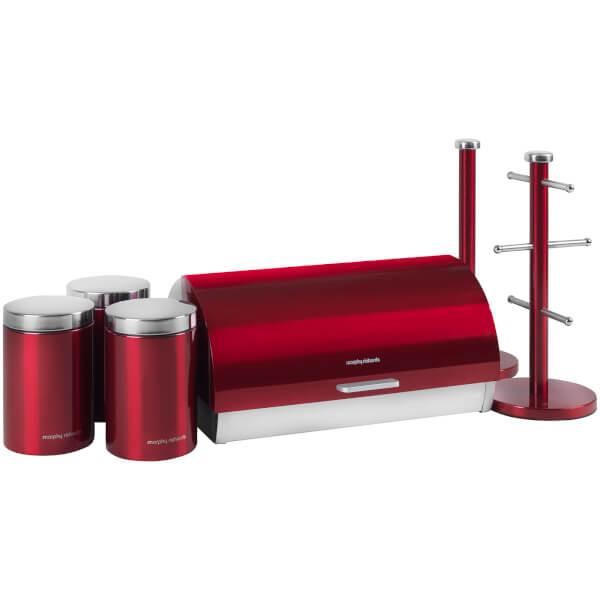 Morphy Richards 974100 6 Piece Storage Set - Red