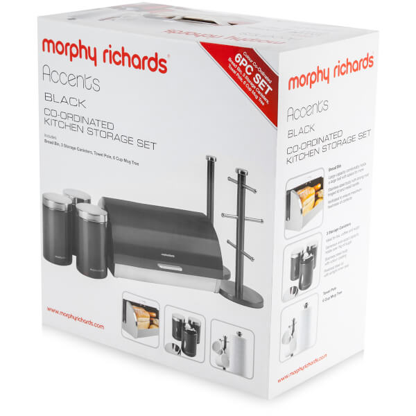 Morphy Richards Kitchen Set: Morphy Richards 974101 6 Piece Storage Set - Black