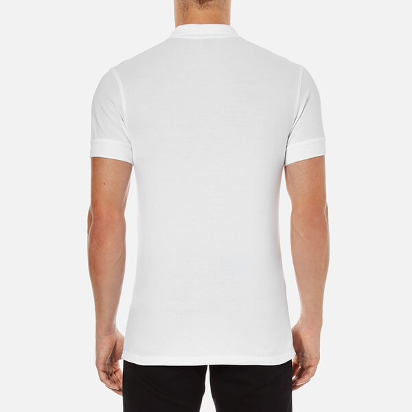 BOSS Orange Men s Pascha Slim Block Branded Polo Shirt - White  Image 3 5c7d2736d9231